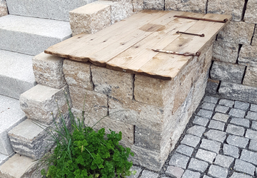 Gartengestaltung Steintruhe